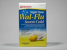 Wal-Flu Night Time 20 mg-10 mg-650 mg oral powder packet