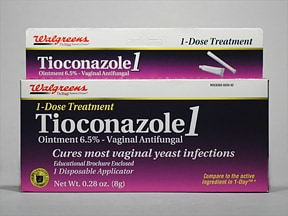 Tioconazole-1 6.5 % vaginal ointment