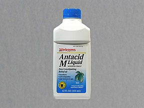 Antacid M 200 mg-200 mg-20 mg/5 mL oral suspension