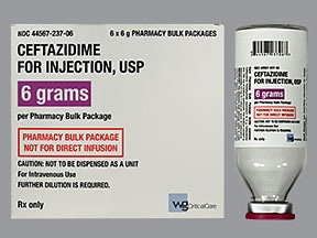 ceftazidime 6 gram solution for injection