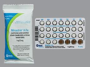 Minastrin 24 Fe 1 mg-20 mcg (24)/75 mg (4) chewable tablet