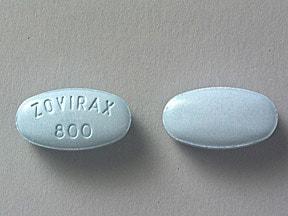 Zovirax 800 mg tablet