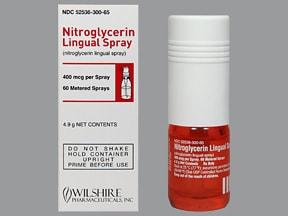 nitroglycerin 400 mcg/spray translingual