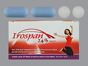 Irospan 24/6 65 mg-65 mg-1,000 mcg (24) tablet