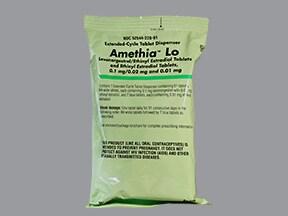 Amethia Lo 0.10 mg-20 mcg (84)/10 mcg(7) tablets,3 month dose pack