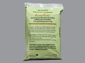 Amethia 0.15 mg-30 mcg (84)/10 mcg(7) tablets,3 month dose pack