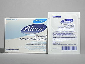 Alora 0.075 mg/24 hr transdermal patch