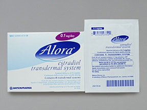 Alora 0.1 mg/24 hr transdermal patch