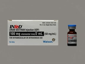 Infed 100 mg/2 mL (50 mg/mL) injection solution