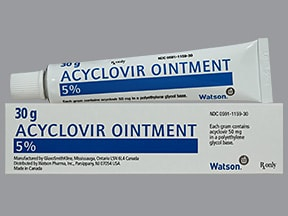 What is acyclovir cream used for