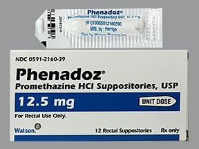 Phenadoz 12.5 mg rectal suppository