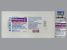Ativan 4 mg/mL injection solution