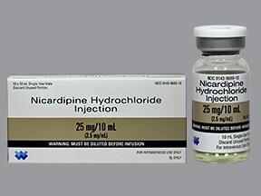 nicardipine 25 mg/10 mL intravenous solution