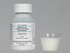 amoxicillin 125 mg/5 mL oral suspension