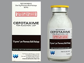 cefotaxime 10 gram solution for injection