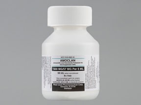 amoxicillin 400 mg-potassium clavulanate 57 mg/5 mL oral suspension