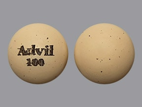 Advil 100 mg tablet