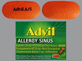 Advil Allergy Sinus 2 mg-30 mg-200 mg tablet