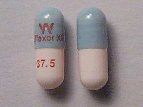 Effexor XR 37.5 mg capsule,extended release