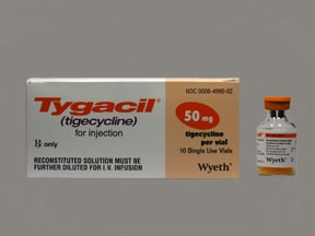 Tygacil 50 mg intravenous solution