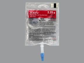 Zosyn 2.25 gram/50 mL in dextrose (iso-osmotic) intravenous piggyback