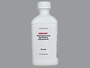 Amicar 250 mg/mL (25 %) oral solution