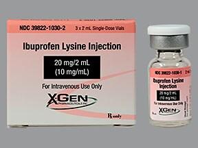 ibuprofen lysine (PF) 20 mg/2 mL intravenous solution