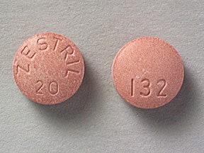 Zestril 20 mg tablet