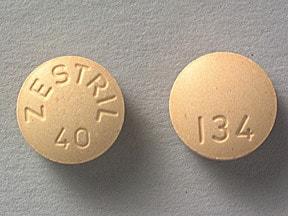 Zestril 40 mg tablet