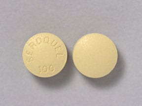 Seroquel 100 mg tablet