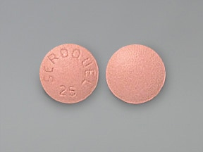 Seroquel 25 mg tablet