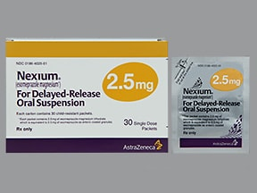 Nexium Packet 2.5 mg granules delayed release for susp