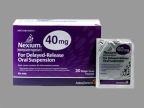 Nexium Packet 40 mg granules delayed release for susp