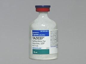 TAZICEF 2 gram solution for injection