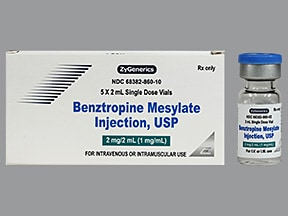 benztropine 2 mg/2 mL injection solution