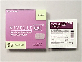 Vivelle-Dot 0.025 mg/24 hr transdermal patch