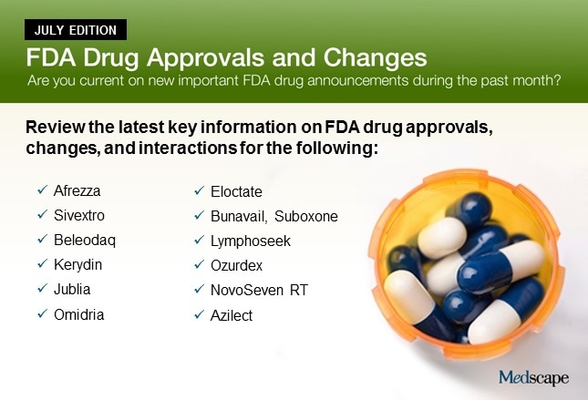 FDA Drug Approvals and Changes: July Edition