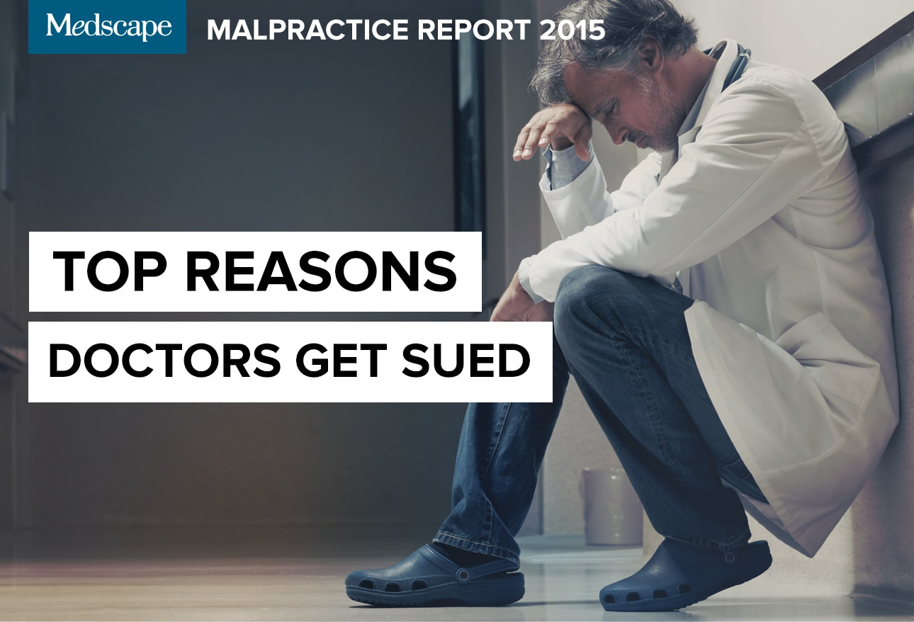 Medscape Malpractice Report 2015: Why Most Doctors Get Sued