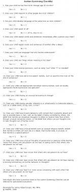 Autism screening checklist.