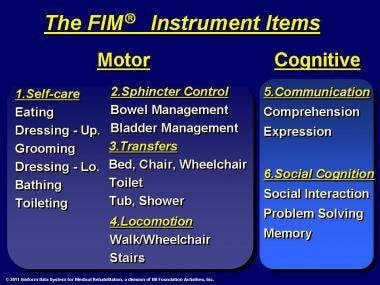 The FIM® instrument items.