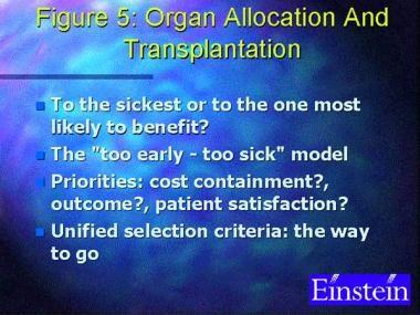 Organ allocation and transplantation.