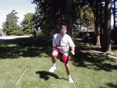 Lateral lunges.