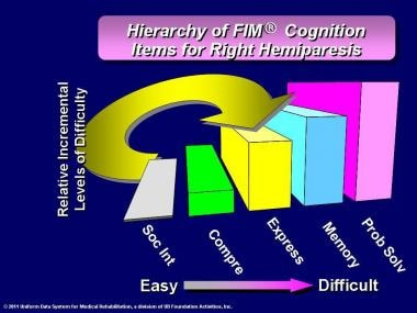 Hierarchy of FIM® instrument cognition items for r