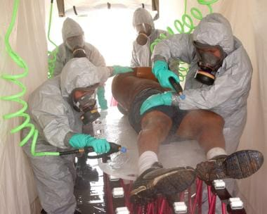 Decontamination. Image courtesy of Wikimedia.