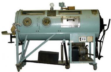 Iron lung (photo courtesy of Kansas Historical soc