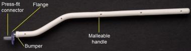 Acclarent sidekick guide catheter holder.