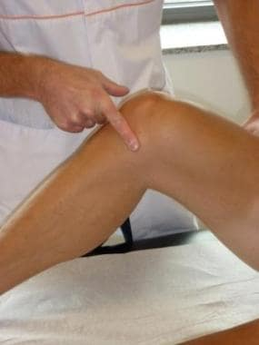 Palpation for joint line tenderness.