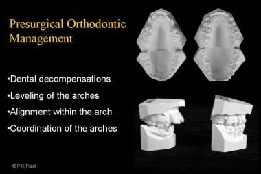 Presurgical orthodontic management requires approp