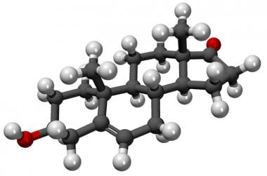Ball-and-stick model of the dehydroepiandrosterone