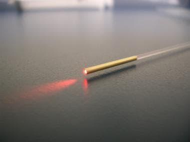 Picture of a jacket-tip laser fiber. Courtesy of A